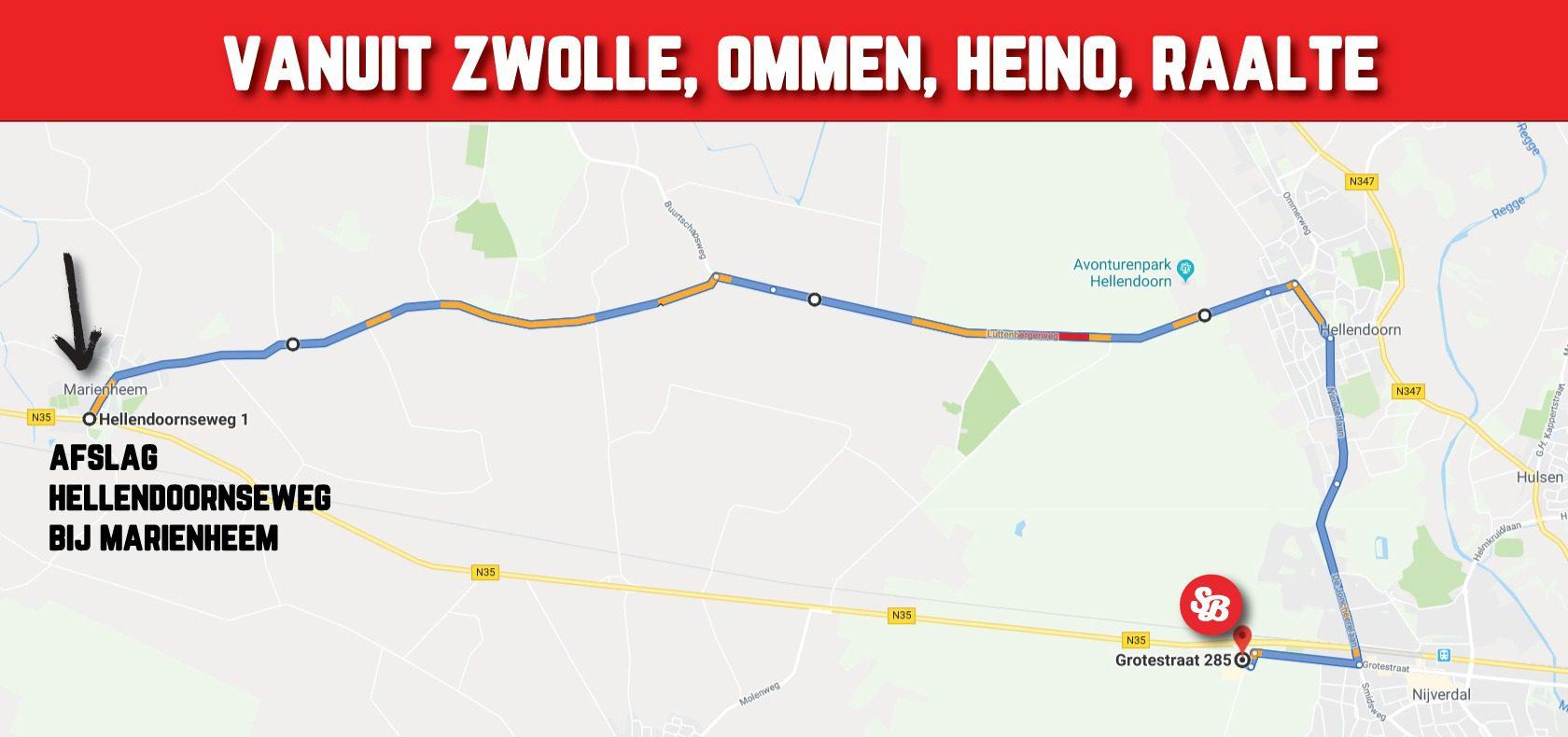 Omleiding-Zwolle